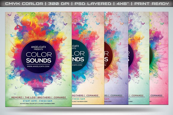 Color Sounds Flyer Template