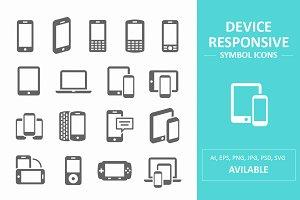 Device Responsive Symbol Icons