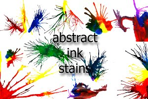 Abstract ink stains. Set