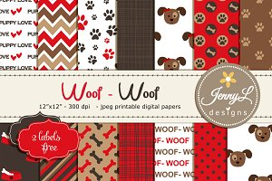 Dog Puppy Digital Papers