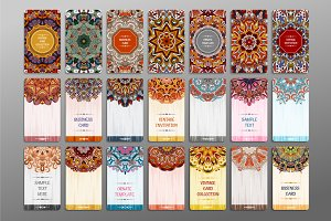 Vector vintage card set.