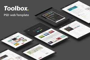 Toolbox - PSD web template