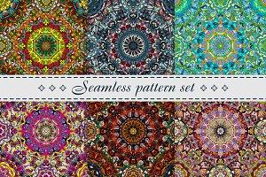 Set of mandala patterns