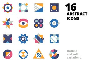 16 Abstract Icons