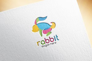 Colorful Rabbit Logo Template