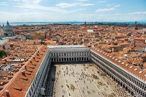 Air view to famous San Marco square