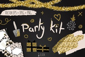 DIY Glam Party Kit- 100 elements!