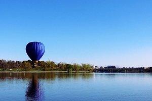 Gas balloon at a lake in Australia
