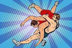 Greco Roman wrestling men