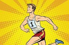 Runner male runner summer games