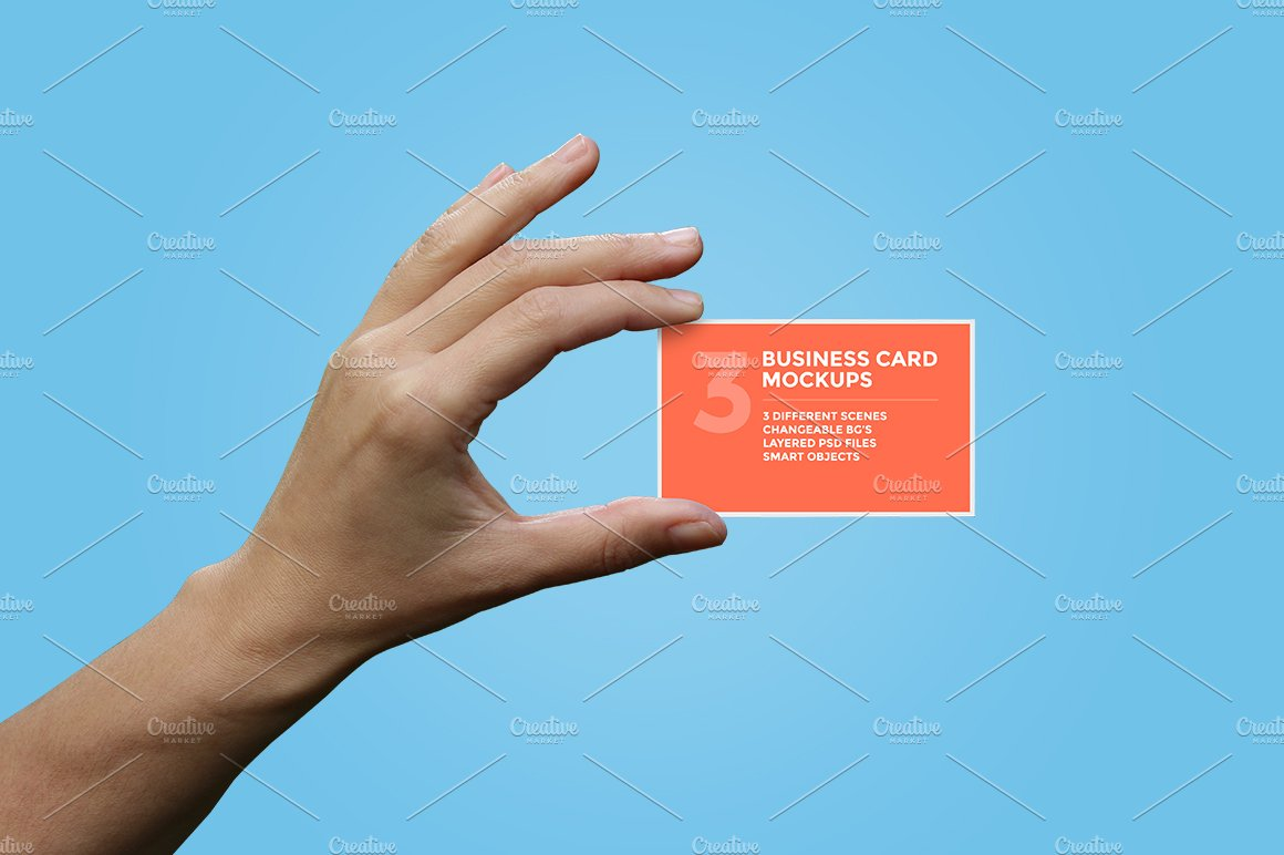 Hands Holding Business Card Mockups ~ Product Mockups ~ Creative Market