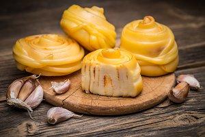 Handicraft twisted cheese