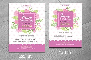 mother s day sale flyer template flyer templates creative market