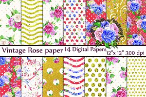 Floral digital papers