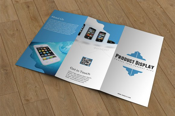 Product Display Trifold-V04 in Brochure Templates