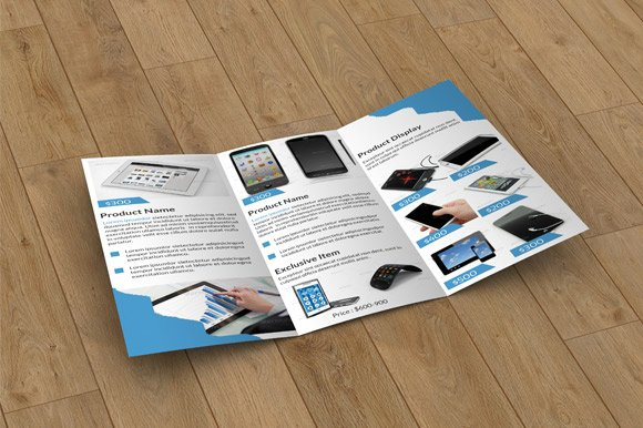 Product Display Trifold-V04 in Brochure Templates - product preview 1