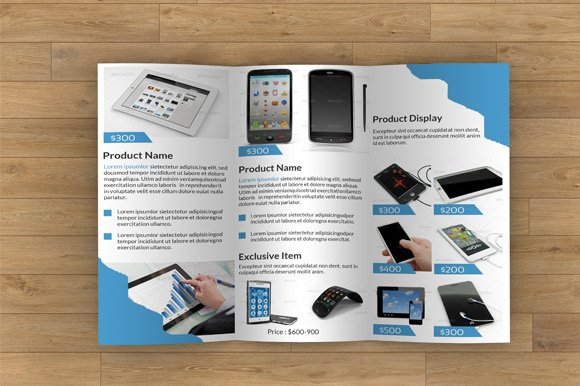 Product Display Trifold-V04 in Brochure Templates - product preview 2