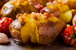 Homemade baked potato