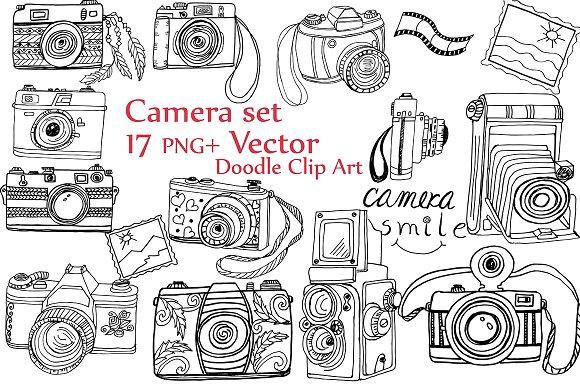 Doodle Camera Clipart