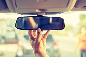 rear view mirror.