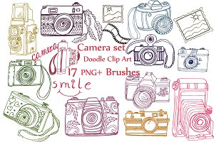 Doodle camera clipart  PS Brushes