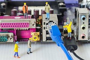 Miniature engineer team