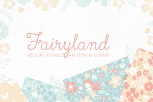 """Fairyland"" patterns and clipart"