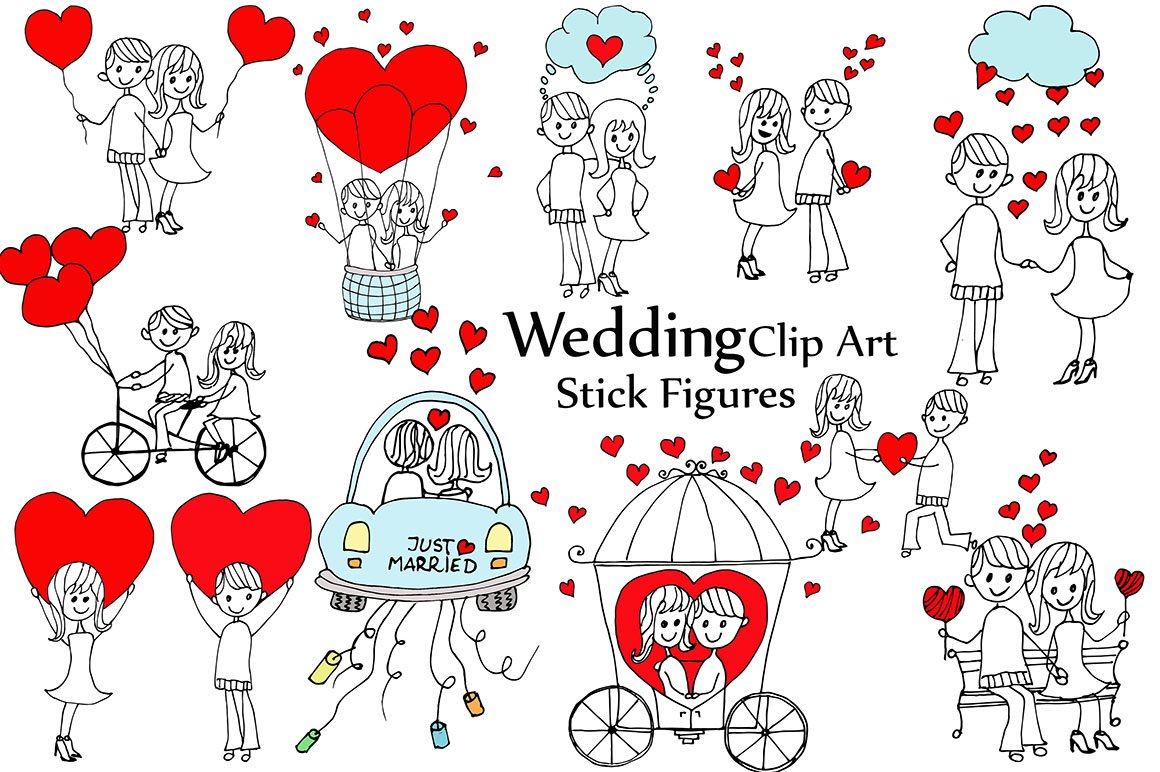 Stick Figure Wedding Invitations: Wedding Stick Figure