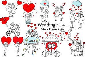 Wedding Stick Figure
