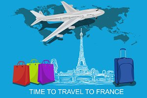 travel to France concept