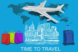 travel to the USA concept