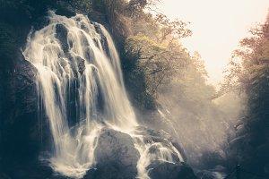 Waterfall in vintage tone.