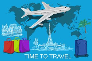 time to travel concept, world