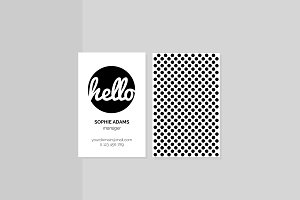 Retro Minimal Business Card