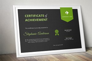 Dark ribbon Word certificate (docx)