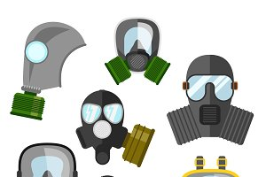 Gas mask set