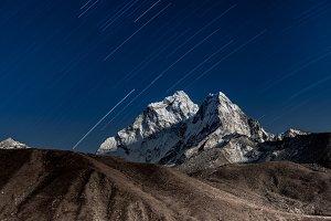 Mt. Ama Dablam. Night landscape.