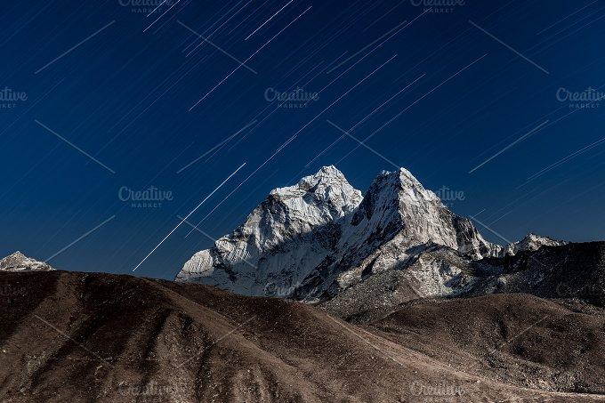 Mt. Ama Dablam. Night landscape. - Nature
