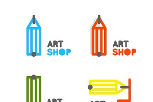 Pencil logo. Art school