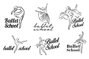 Ballerina illustration. Ballet logo