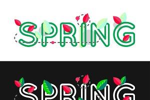 Spring lettering banner