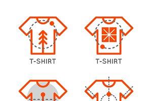 T-shirt logo.Online shop