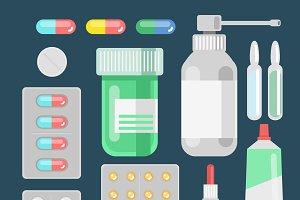 Pills bottles