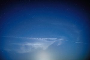 Blue dark night sky