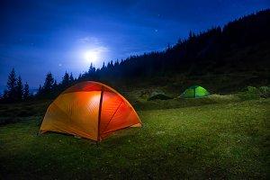 Two Illuminated tents