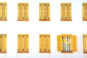 Many closed windows