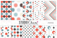 Retro Dotty Pattern Papers