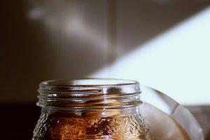 Jar with eggs