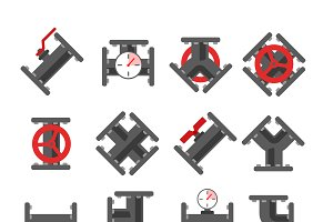Pipe fitting vector set
