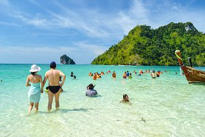 Beach at Summer in Krabi Thailand